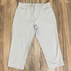 Talbots Signature Crop Pants Sz 12P Stretch